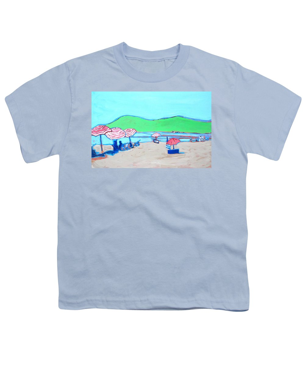 Seashore Youth T-Shirt featuring the painting Riviera by Kurt Hausmann