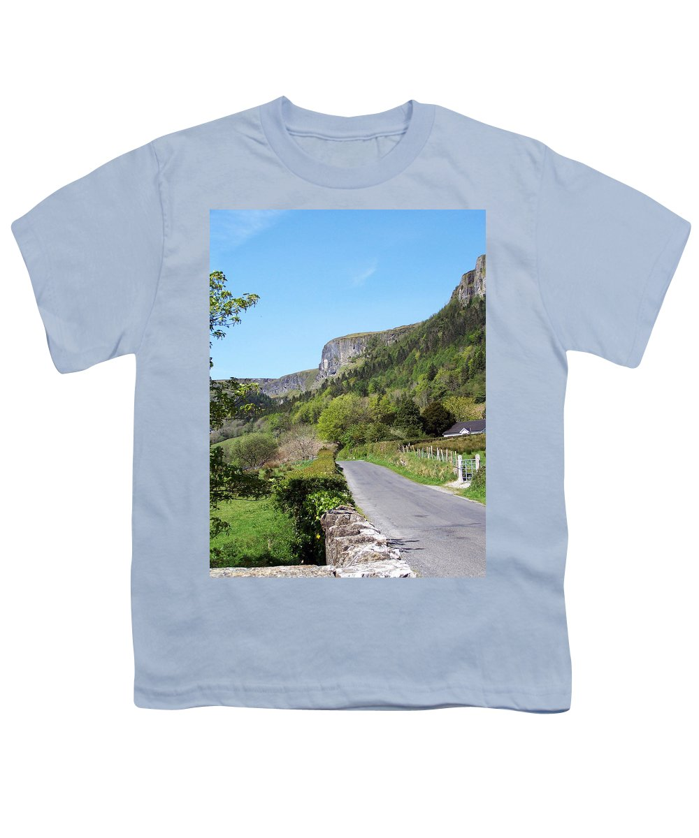Irish Youth T-Shirt featuring the photograph Road To Benbulben County Leitrim Ireland by Teresa Mucha