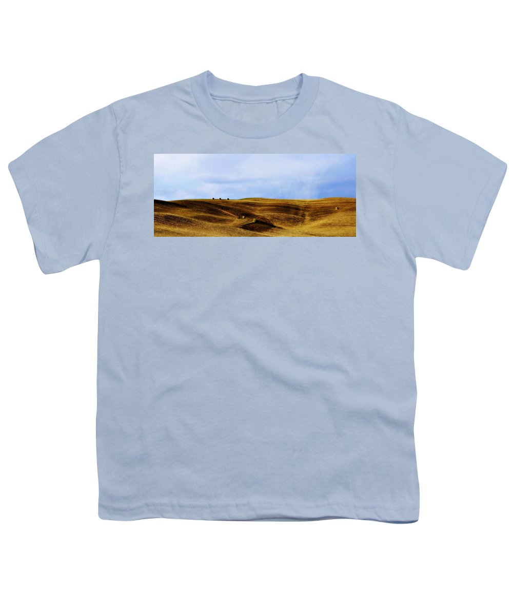Italy Youth T-Shirt featuring the photograph Rolling Hills Of Hay by Marilyn Hunt