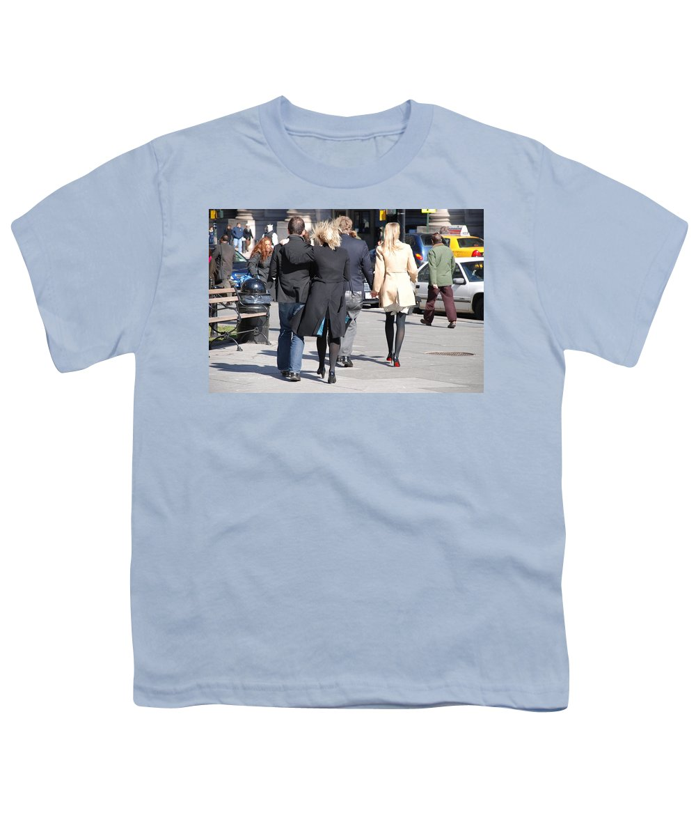 Urban Youth T-Shirt featuring the photograph Rushing To The Alter by Rob Hans