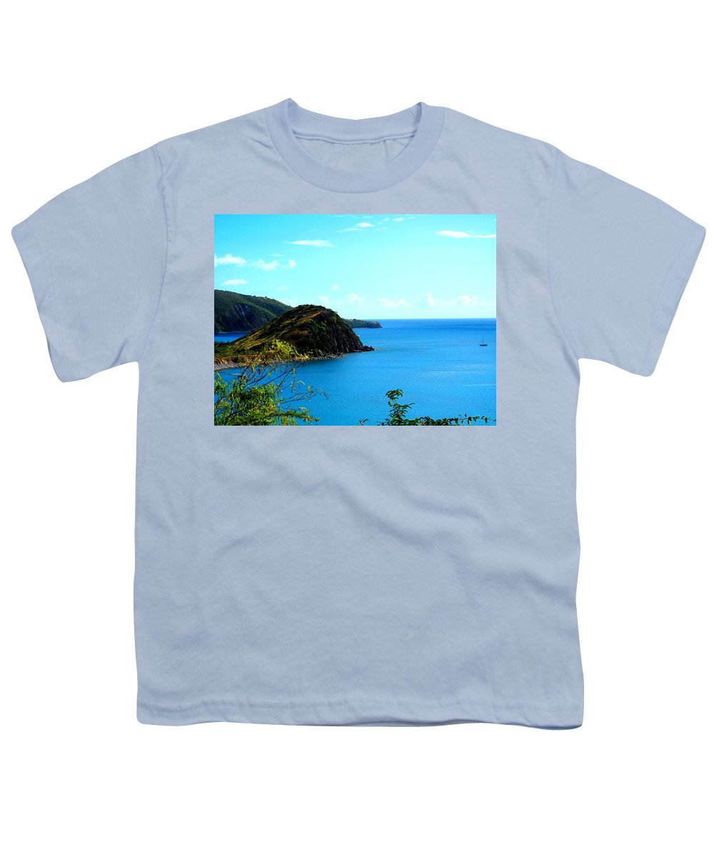 St Kitts Youth T-Shirt featuring the photograph Safe Harbor by Ian MacDonald