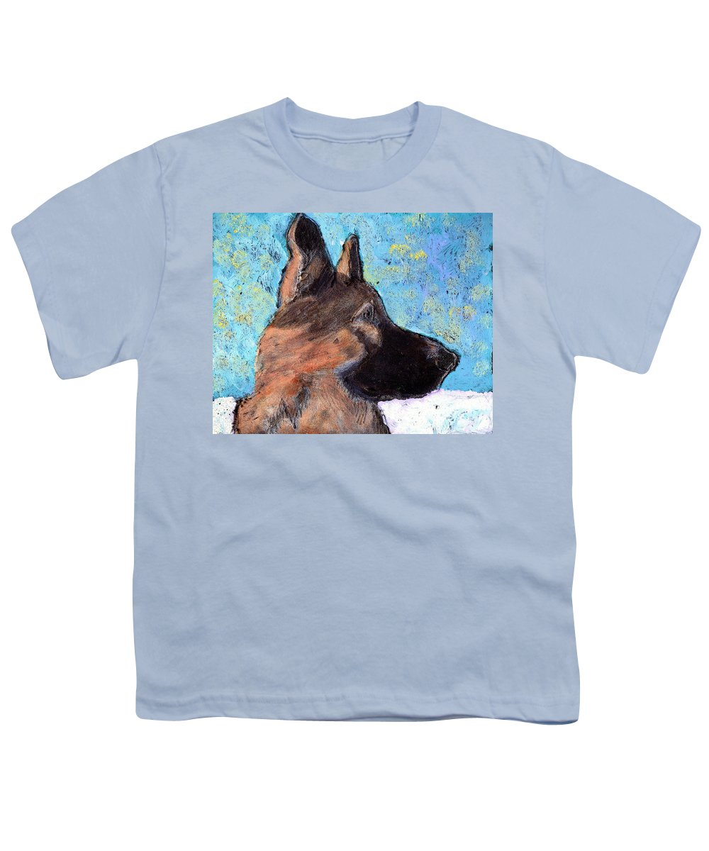Dog Youth T-Shirt featuring the painting Sarge II by Wayne Potrafka
