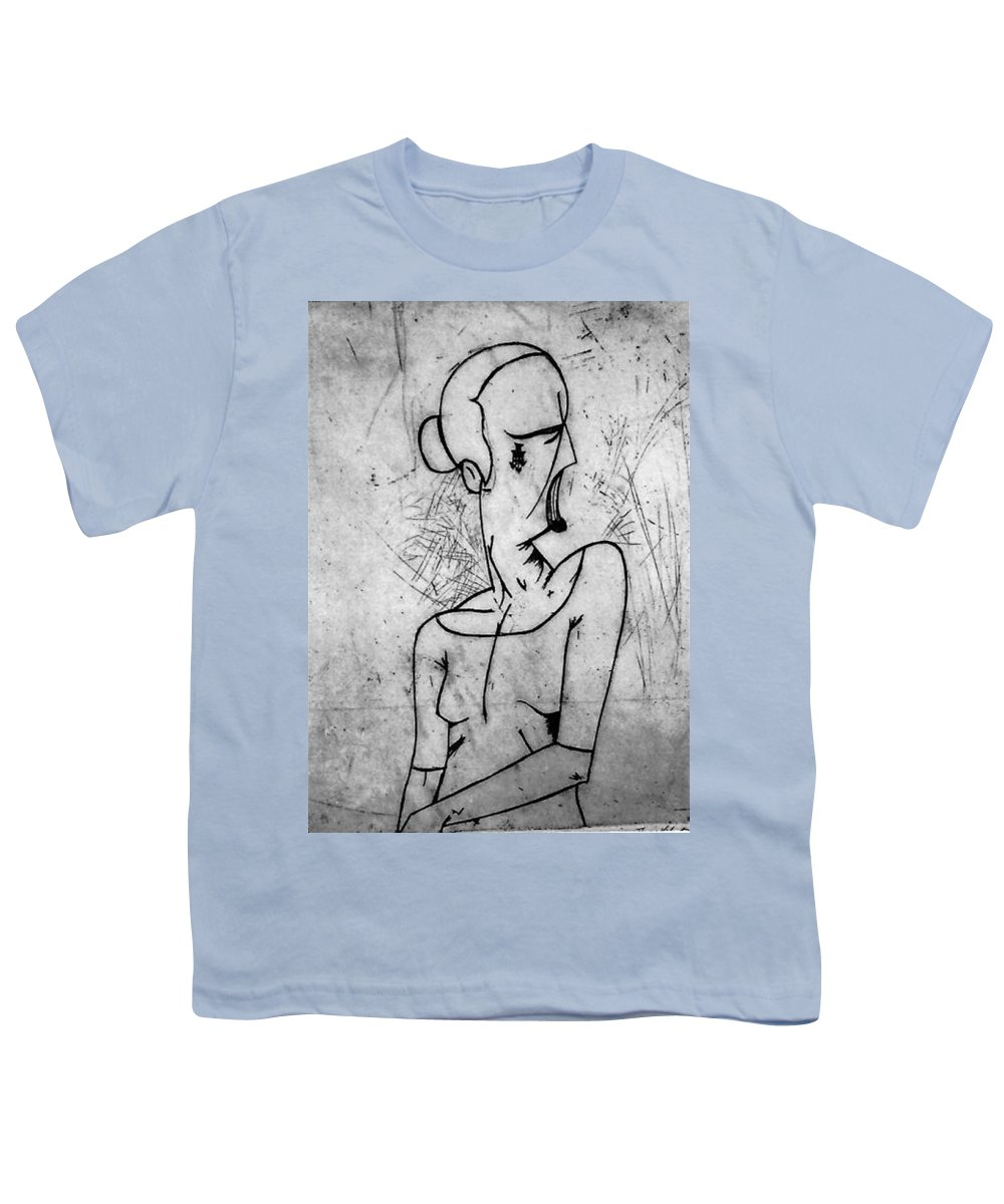 Misc Youth T-Shirt featuring the print Screamer by Thomas Valentine