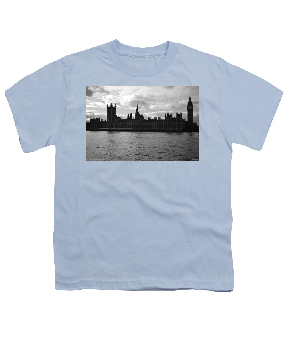 London Youth T-Shirt featuring the photograph Shadows Of Parliament by J Todd