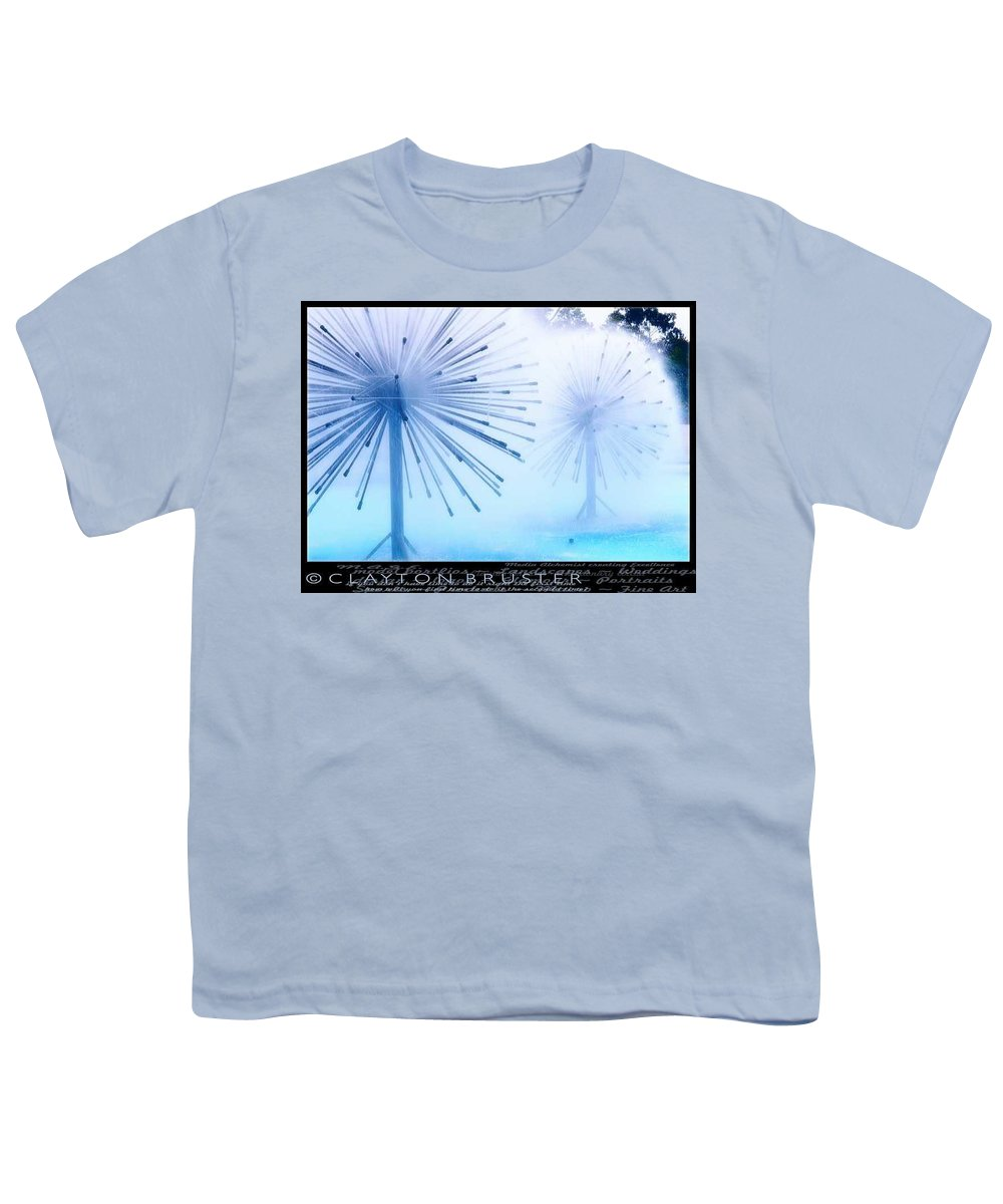 Clay Youth T-Shirt featuring the photograph Southern California Fountains by Clayton Bruster