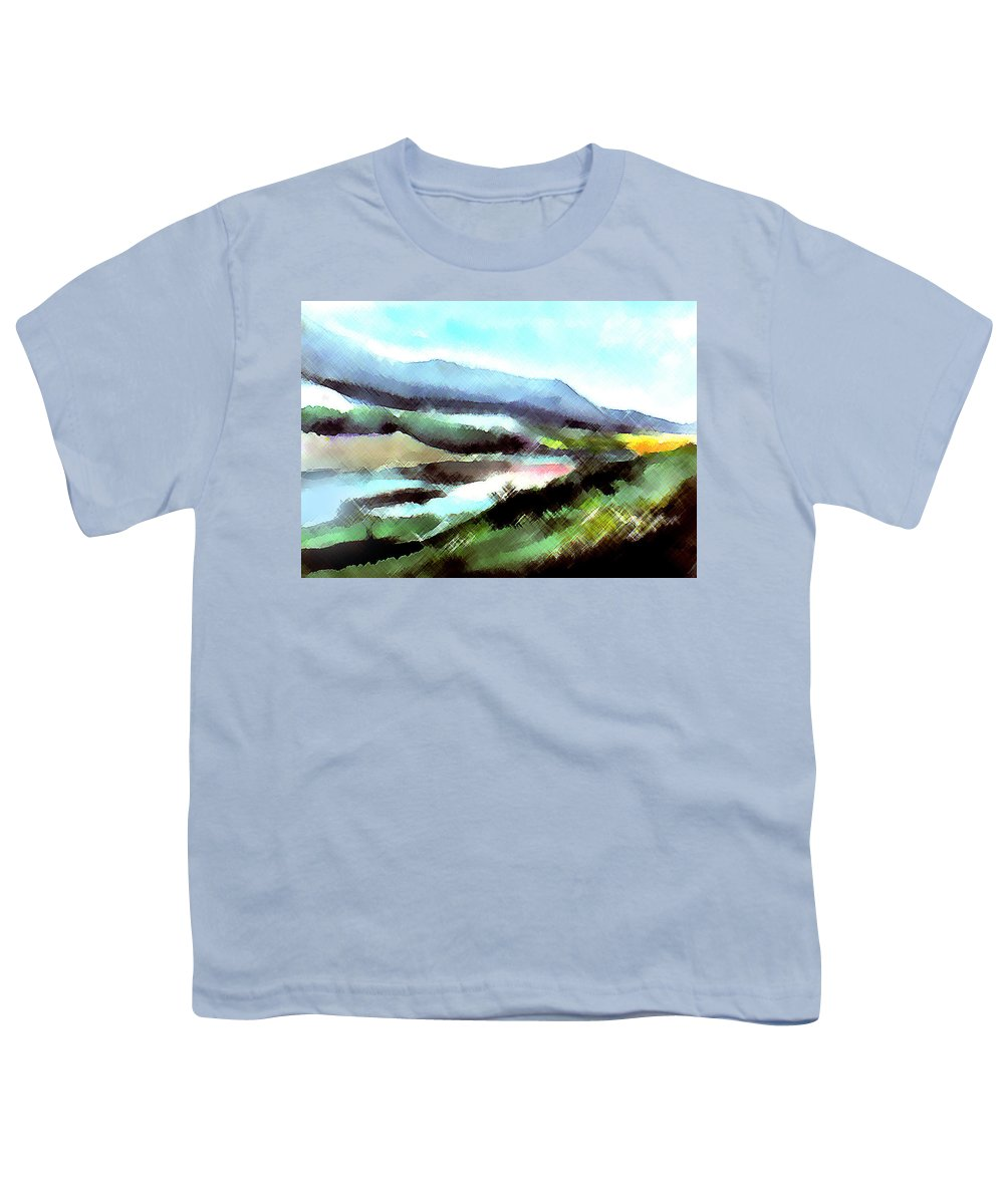 Digital Art Youth T-Shirt featuring the painting Sparkling by Anil Nene