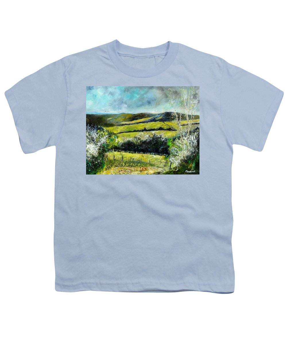 Landscape Youth T-Shirt featuring the print Spring 79 by Pol Ledent