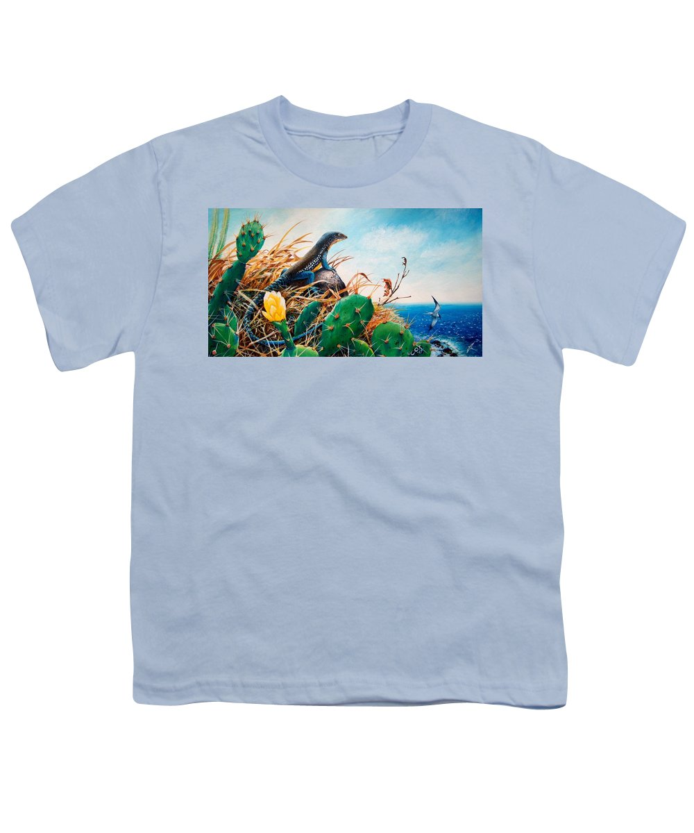 Chris Cox Youth T-Shirt featuring the painting St. Lucia Whiptail by Christopher Cox