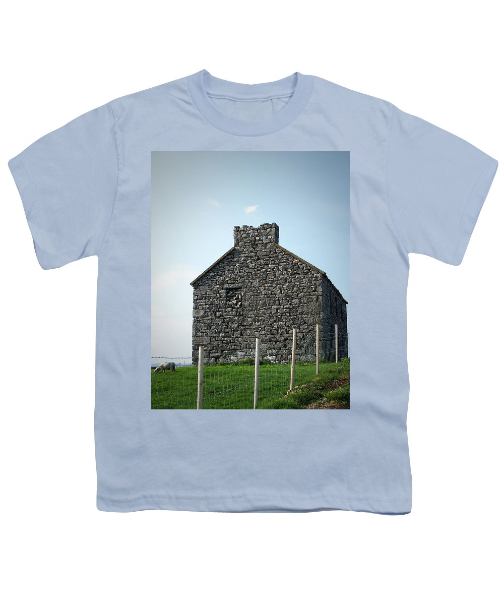 Irish Youth T-Shirt featuring the photograph Stone Building Maam Ireland by Teresa Mucha