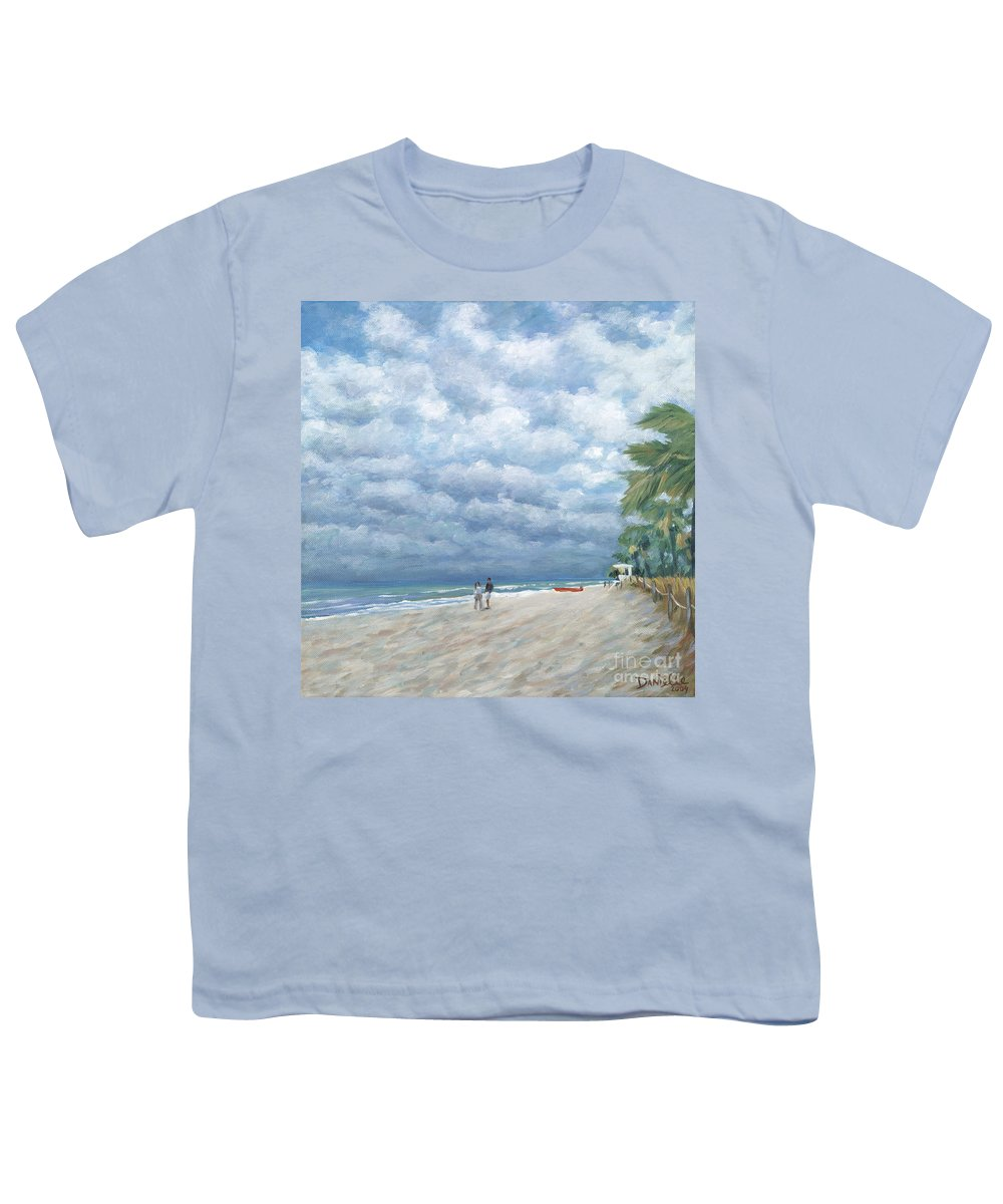 Fort Lauderdale Youth T-Shirt featuring the painting Storm On The Horizon by Danielle Perry