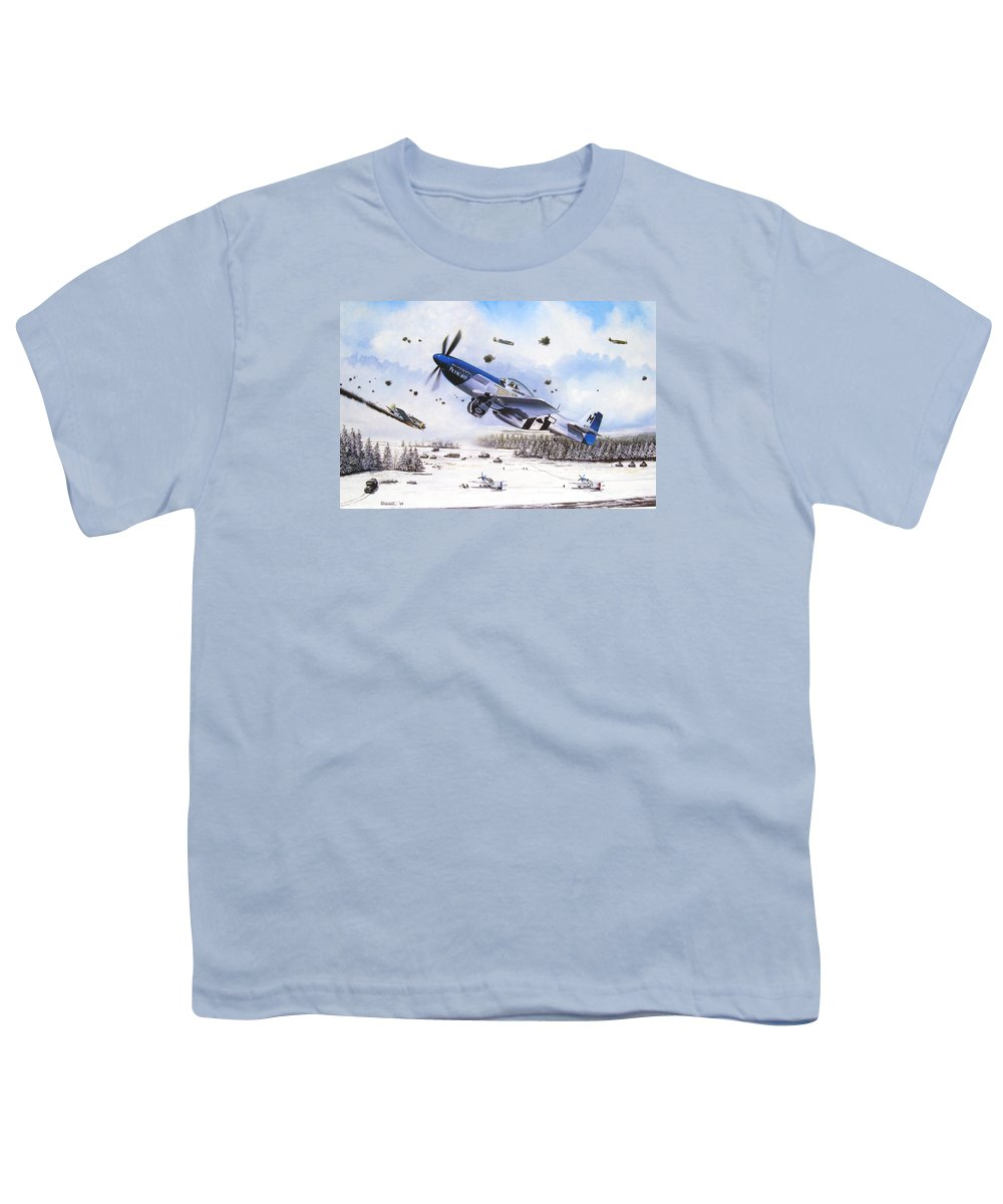 Aviation Youth T-Shirt featuring the painting Surprise At Asch by Marc Stewart