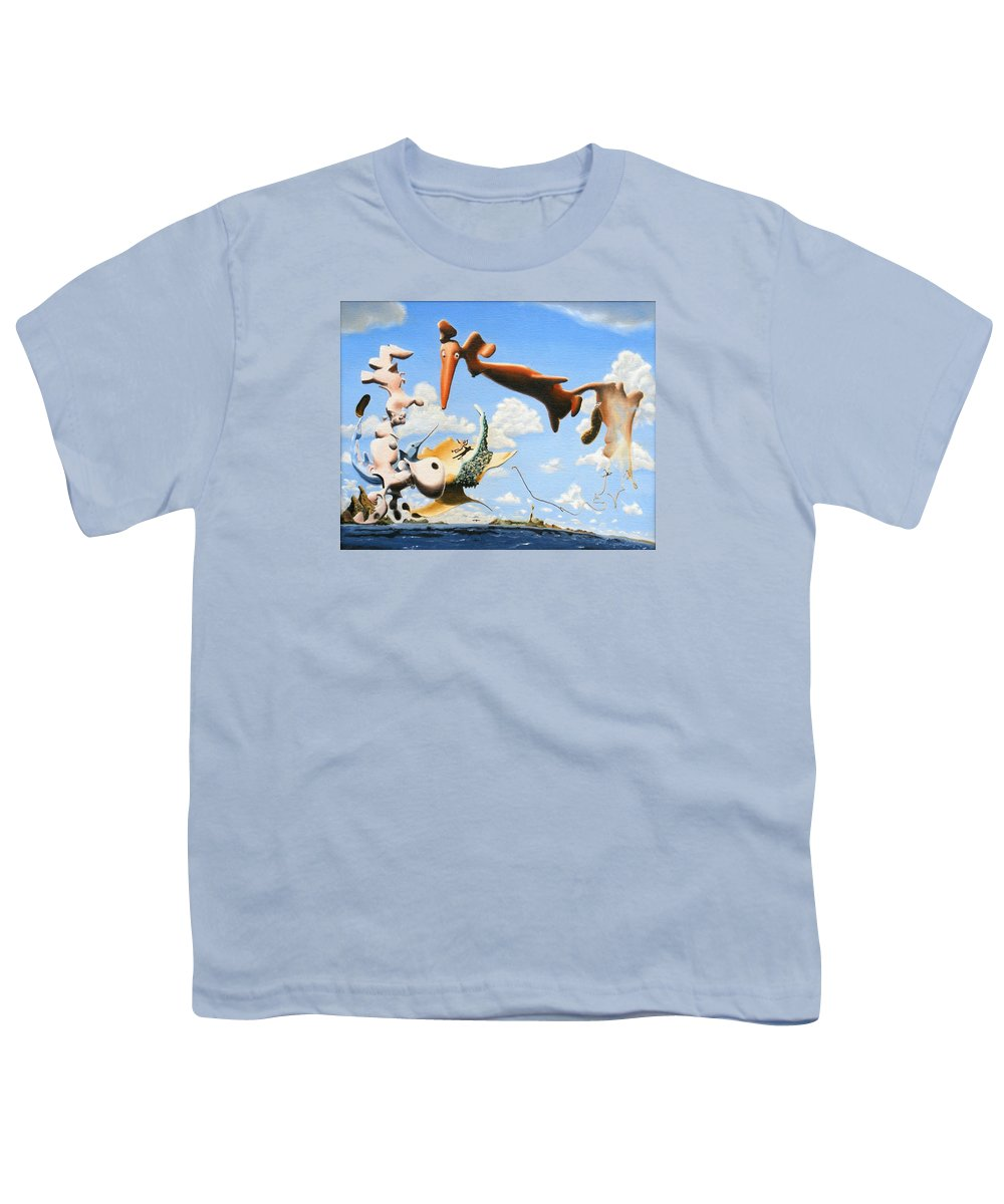 Surreal Youth T-Shirt featuring the painting Surreal Friends by Dave Martsolf