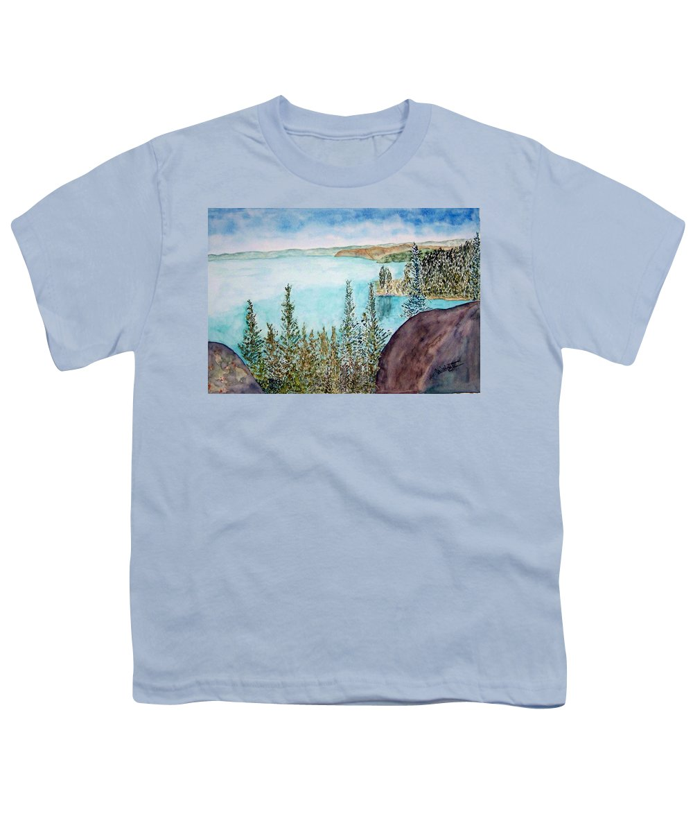 Tahoe Youth T-Shirt featuring the painting Tahoe Remembered by Larry Wright