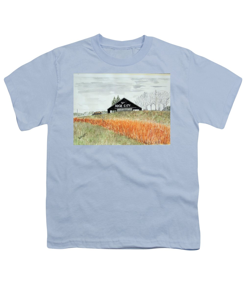 Barns Youth T-Shirt featuring the painting Tennessee Destination by Larry Wright