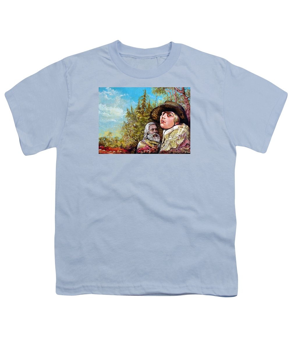 Surrealism Youth T-Shirt featuring the painting The Dauphin And Captain Nemo Discovering Bogomils Island by Otto Rapp