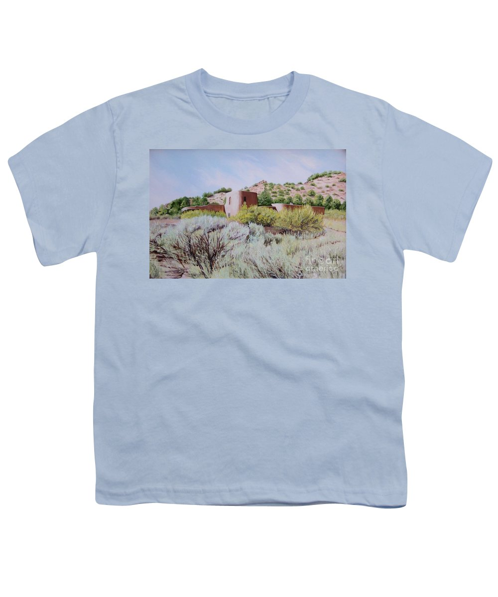 Usa Youth T-Shirt featuring the painting The Dixon House by Mary Rogers