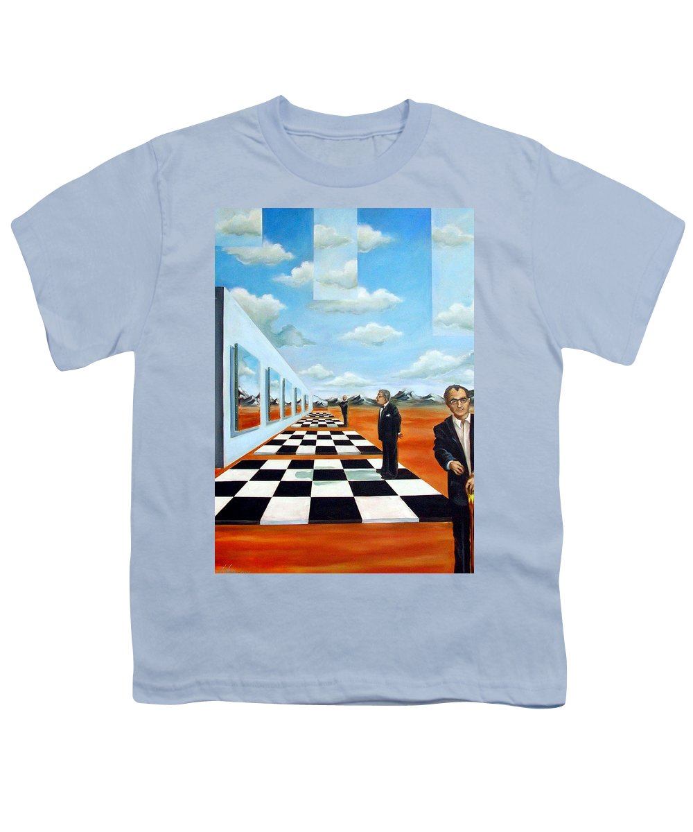 Surreal Youth T-Shirt featuring the painting The Gallery by Valerie Vescovi