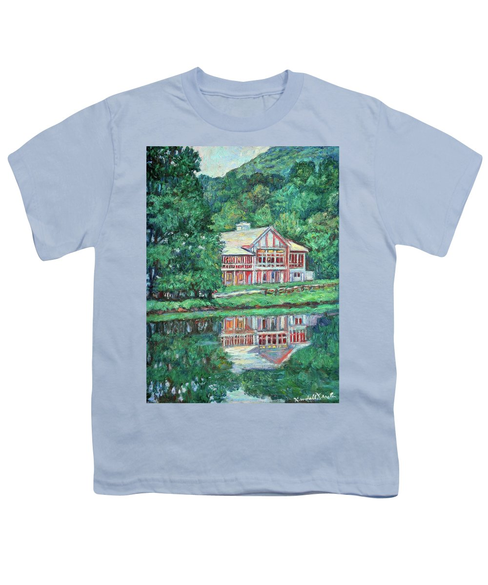 Lodge Paintings Youth T-Shirt featuring the painting The Lodge At Peaks Of Otter by Kendall Kessler