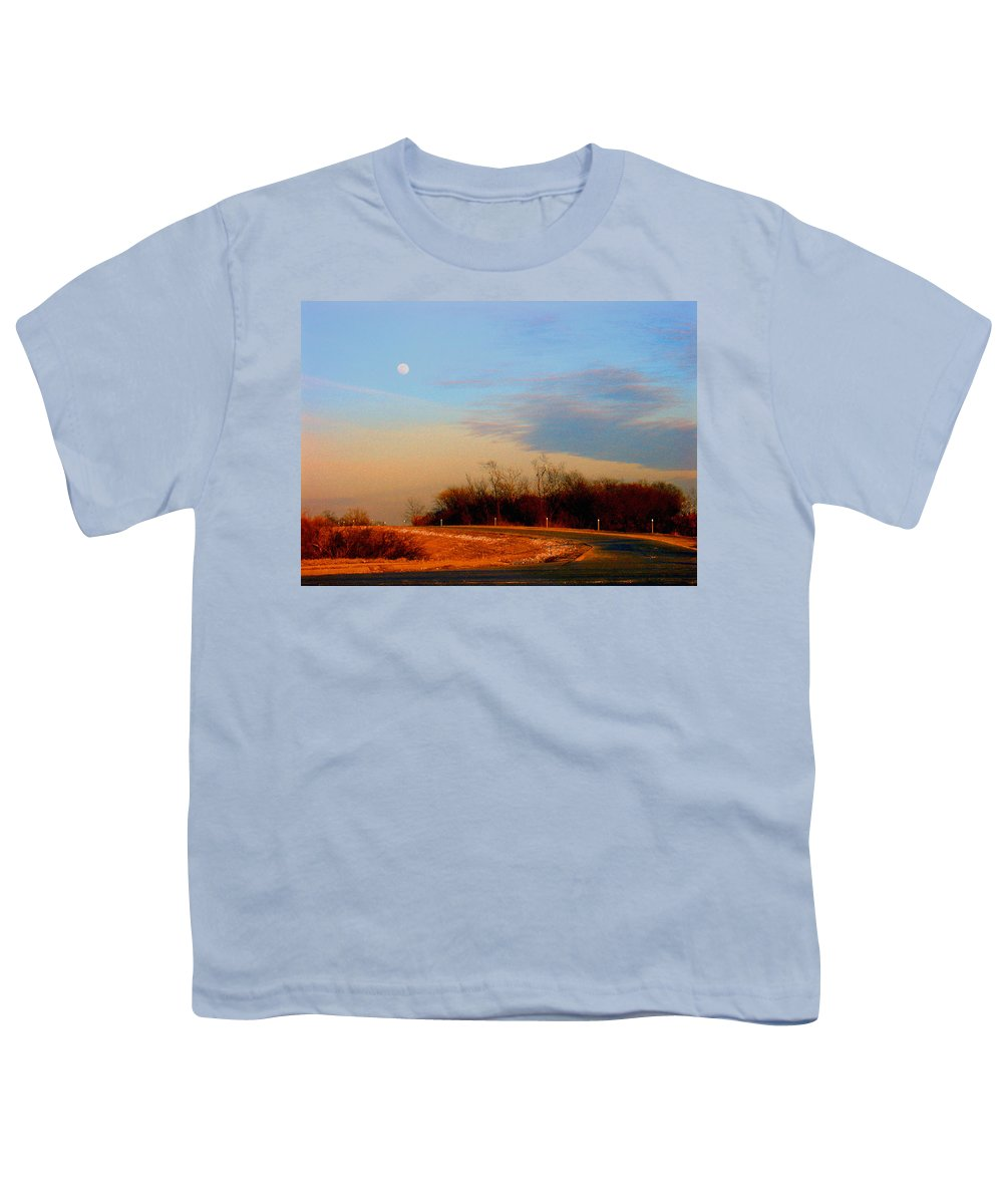 Landscape Youth T-Shirt featuring the photograph The On Ramp by Steve Karol