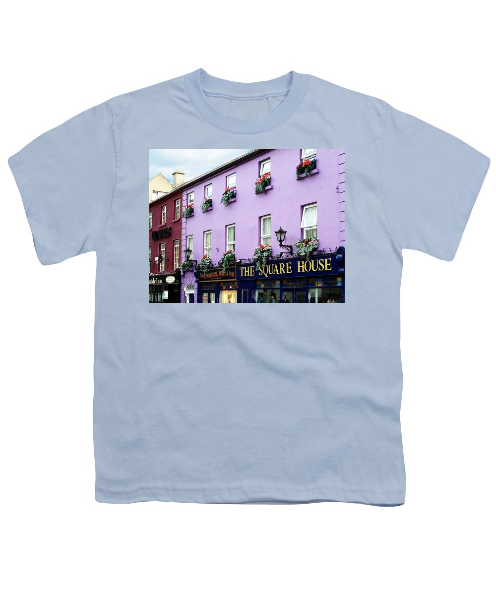 Irish Youth T-Shirt featuring the photograph The Square House Athlone Ireland by Teresa Mucha