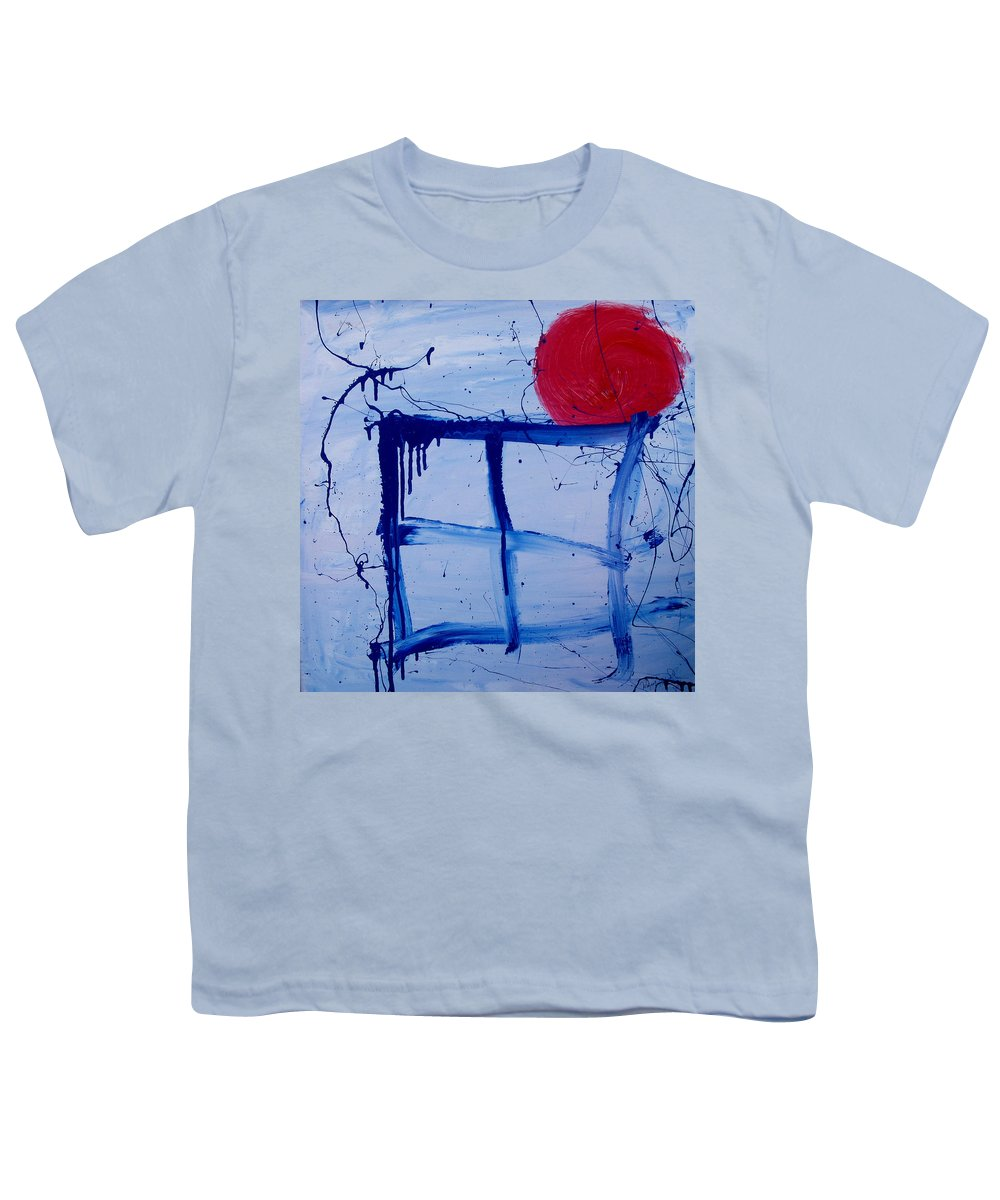Sun Youth T-Shirt featuring the painting The Sun Through My Window by Wayne Potrafka