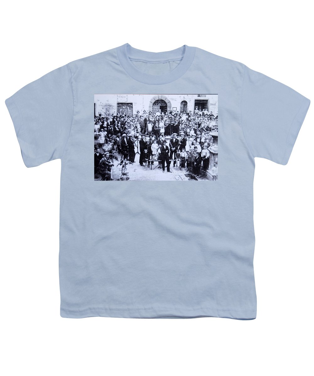 Tuscany Youth T-Shirt featuring the photograph The Village Band by Kurt Hausmann