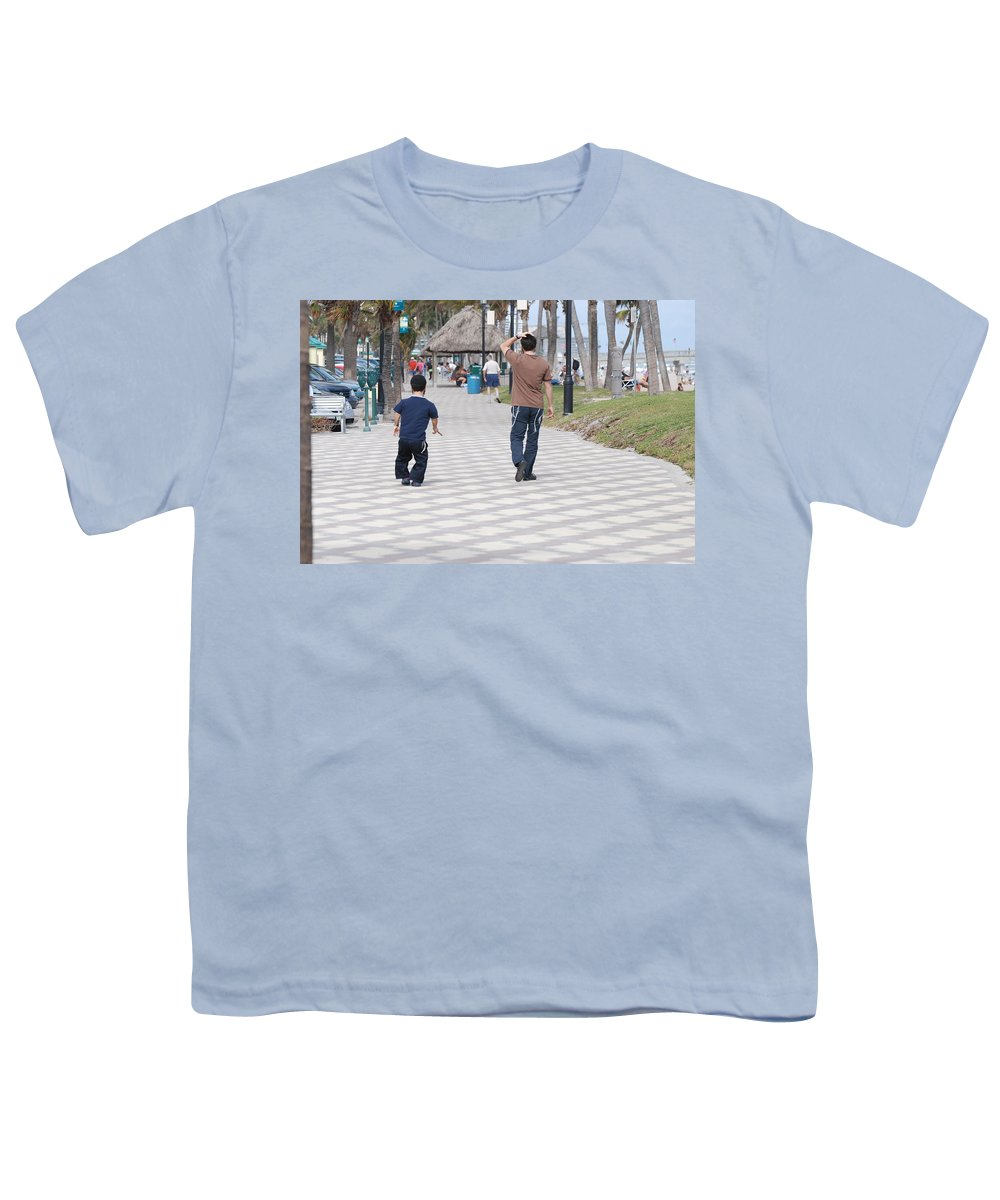 Man Youth T-Shirt featuring the photograph The Walk by Rob Hans