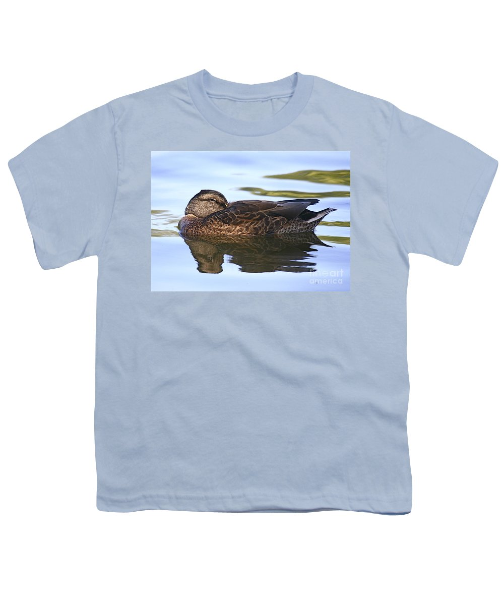 Duck Youth T-Shirt featuring the photograph The Water Bed by Robert Pearson
