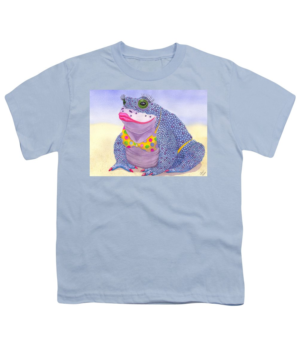 Toad Youth T-Shirt featuring the painting Toadaly Beautiful by Catherine G McElroy