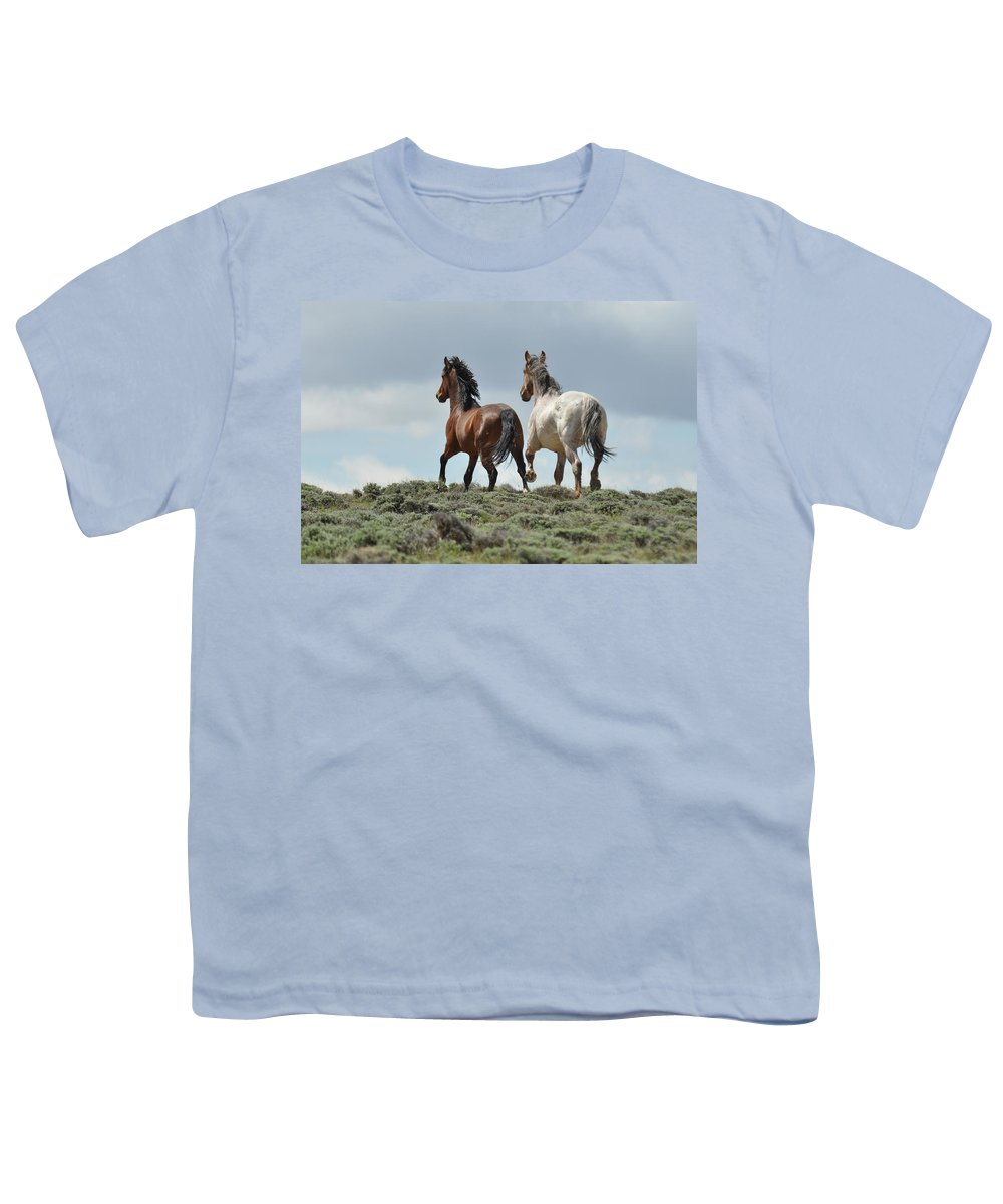 Wild Horses Youth T-Shirt featuring the photograph Too Beautiful by Frank Madia