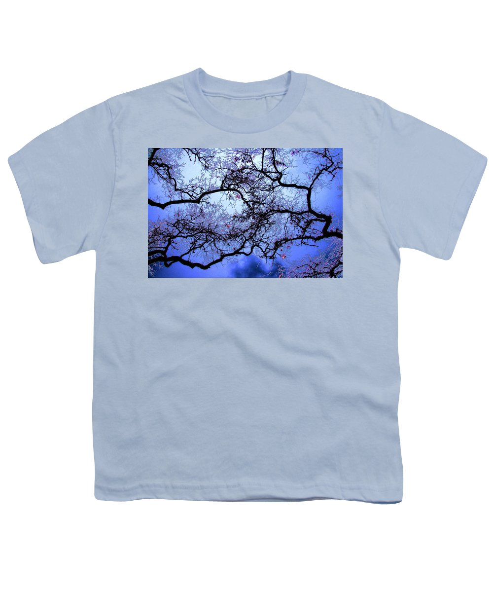Scenic Youth T-Shirt featuring the photograph Tree Fantasy In Blue by Lee Santa