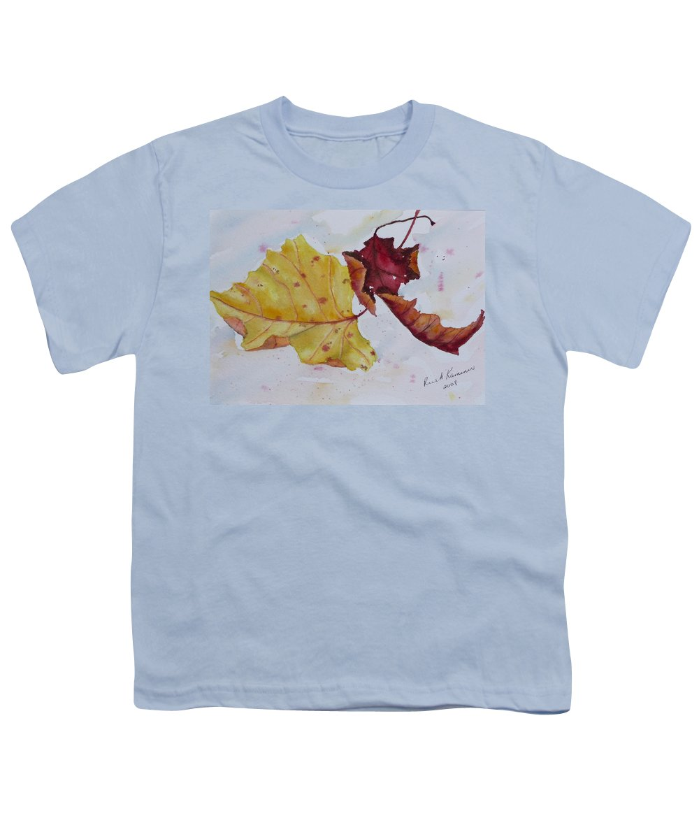 Fall Youth T-Shirt featuring the painting Tumbling by Ruth Kamenev