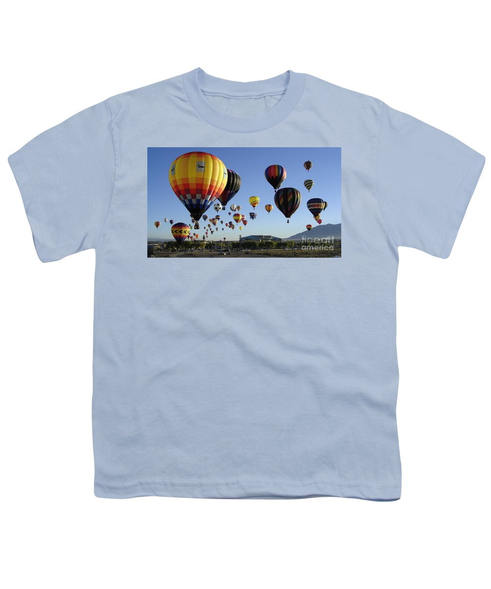 Balloons Youth T-Shirt featuring the photograph Up And Away by Mary Rogers