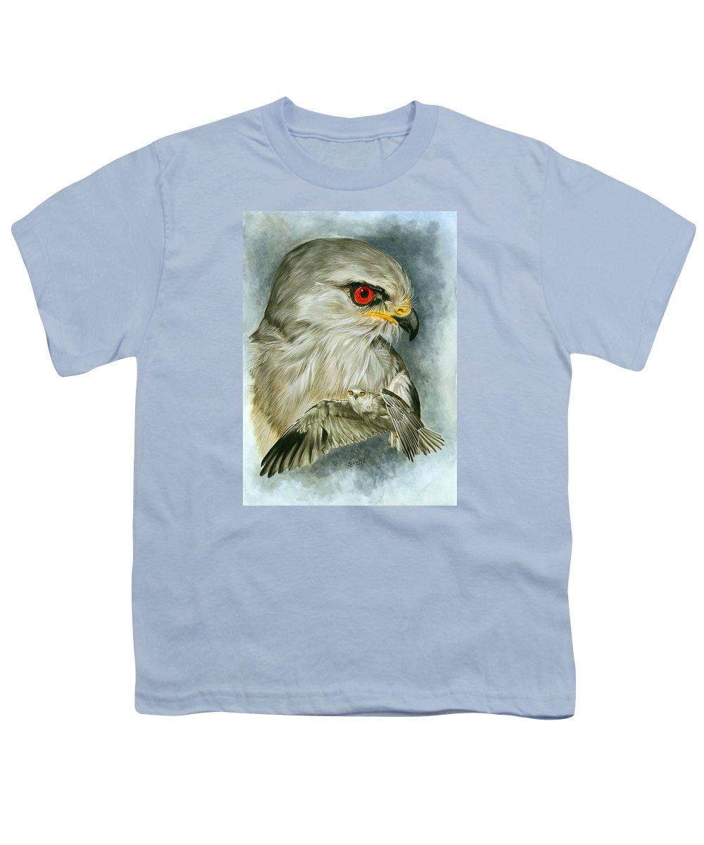 Kite Youth T-Shirt featuring the mixed media Velocity by Barbara Keith
