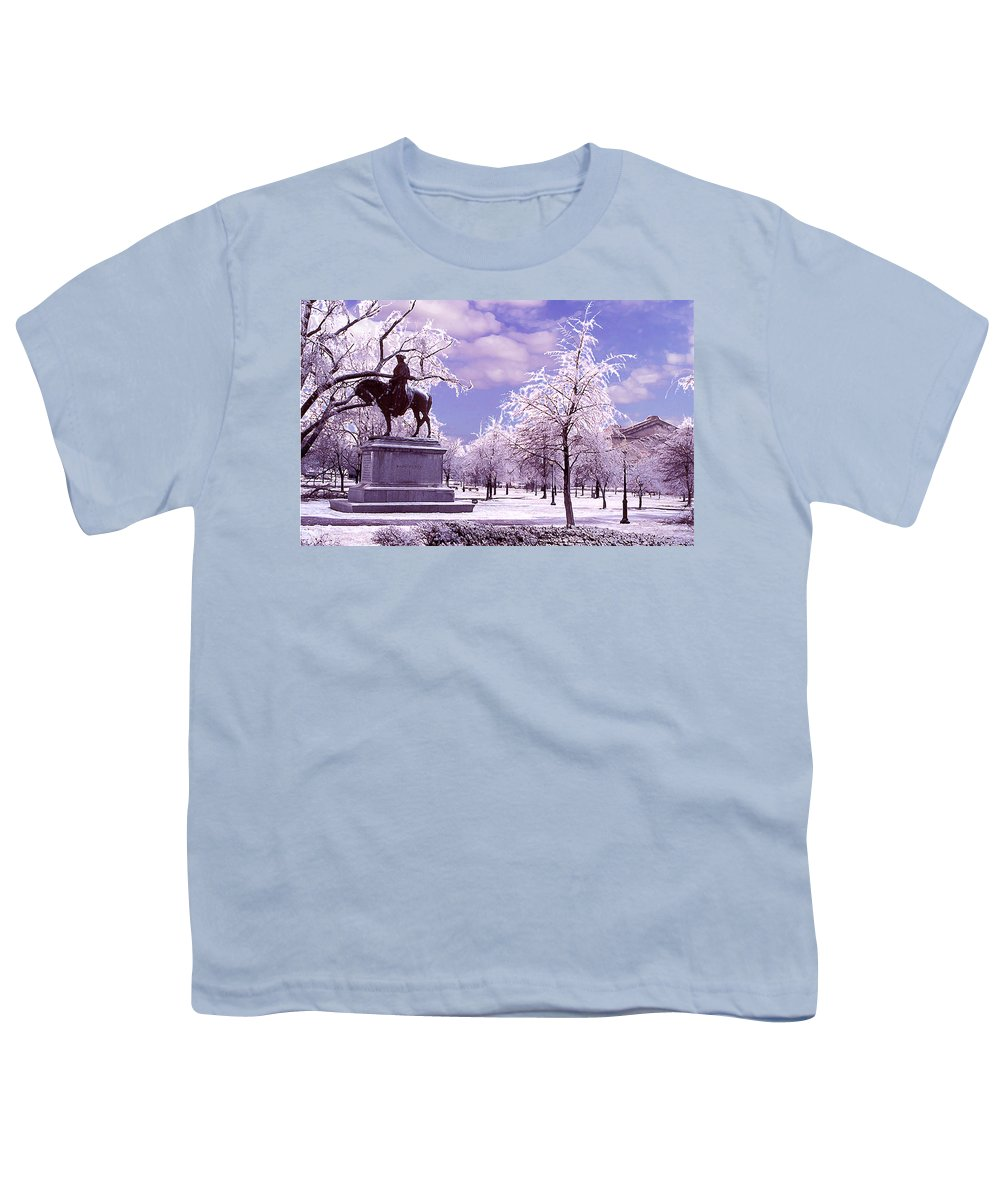 Landscape Youth T-Shirt featuring the photograph Washington Square Park by Steve Karol