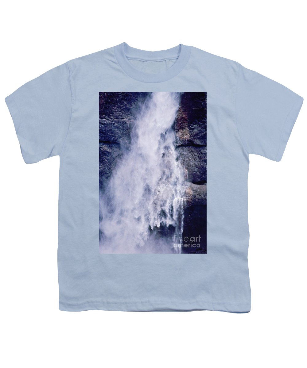 Waterfall Youth T-Shirt featuring the photograph Water Drops by Kathy McClure