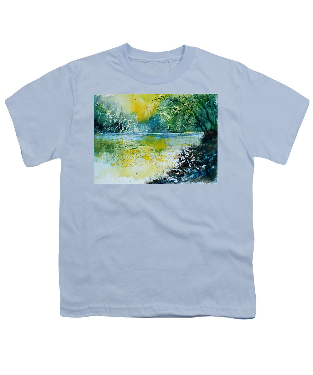 Pond Youth T-Shirt featuring the painting Watercolor 051108 by Pol Ledent
