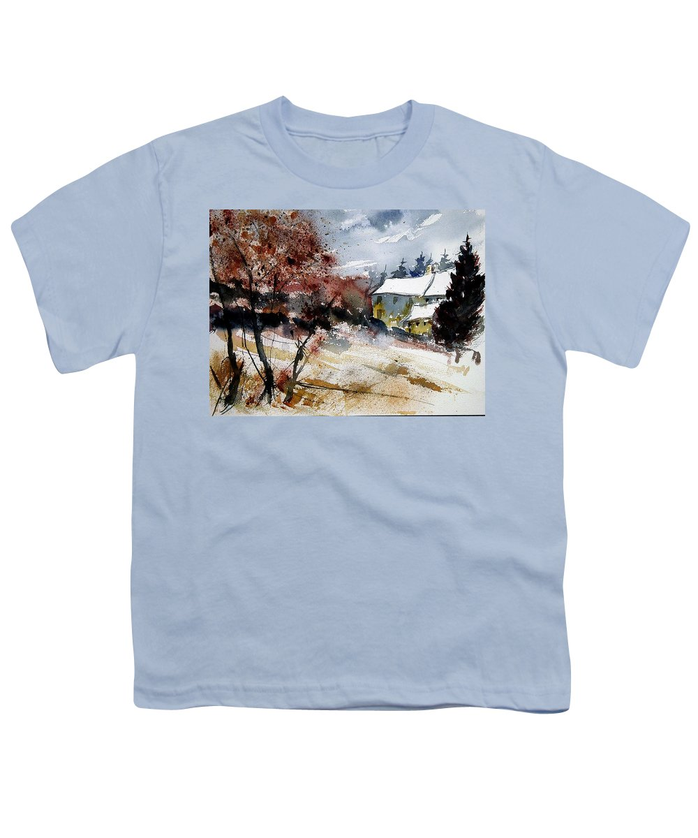 Winter Youth T-Shirt featuring the painting Watercolor 251205 by Pol Ledent