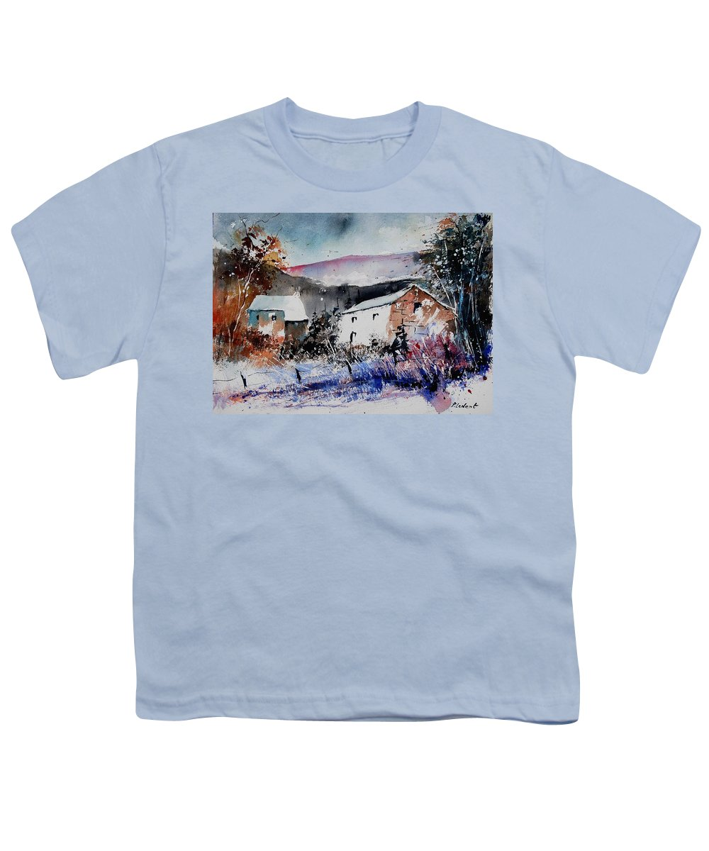 Winter Youth T-Shirt featuring the painting Watercolor 902080 by Pol Ledent