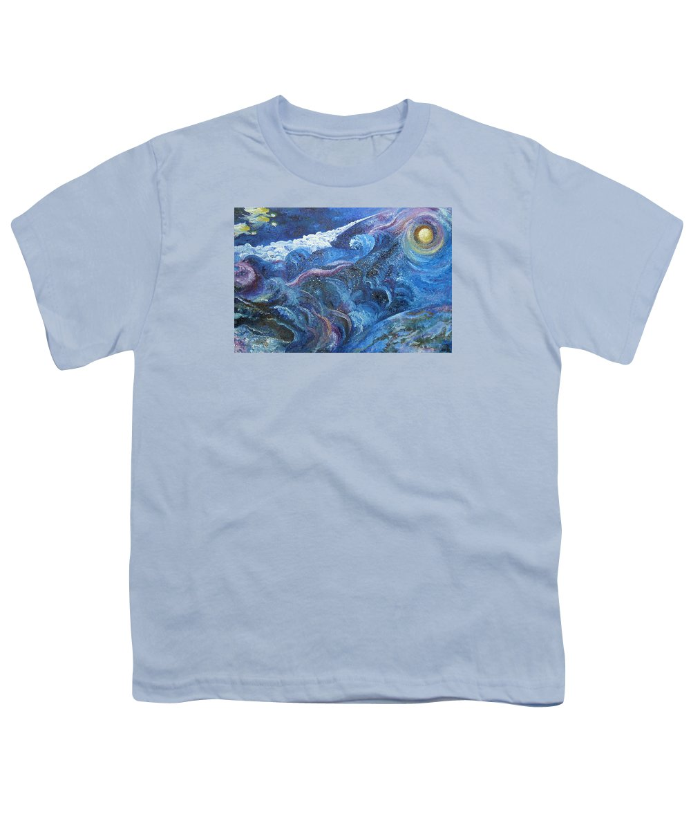 Baby Lambs Youth T-Shirt featuring the painting White Baby Lambs Of Peaceful Nights by Karina Ishkhanova