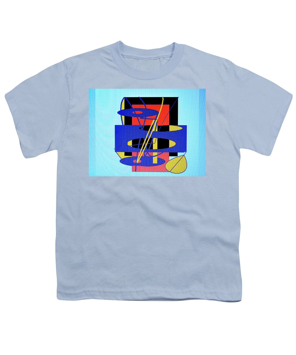 Abstract Youth T-Shirt featuring the digital art Widget World by Ian MacDonald