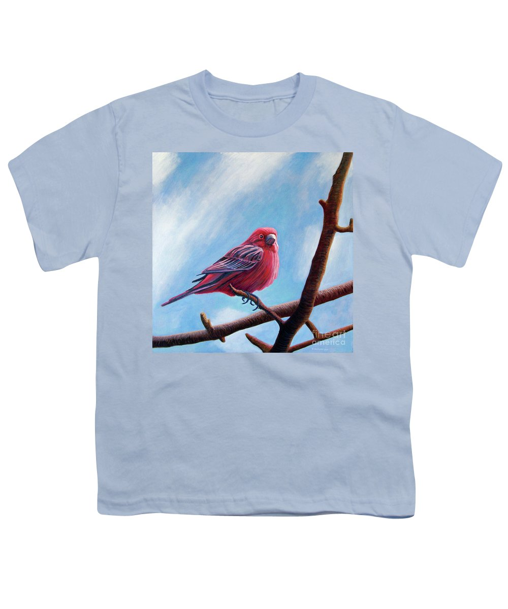 Bird Youth T-Shirt featuring the painting Winter Finch by Brian Commerford