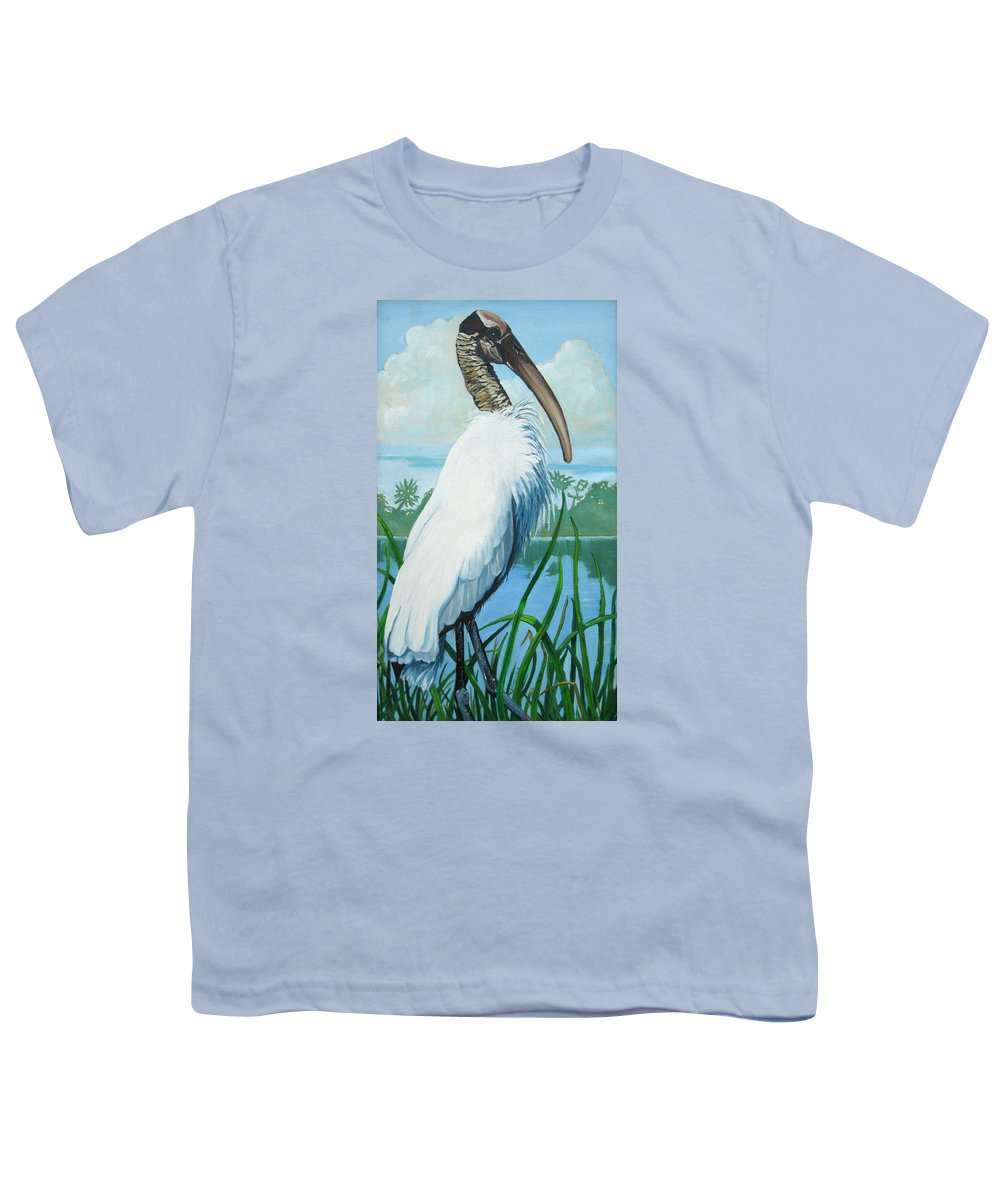 Bird Youth T-Shirt featuring the painting Wood Stork by D T LaVercombe
