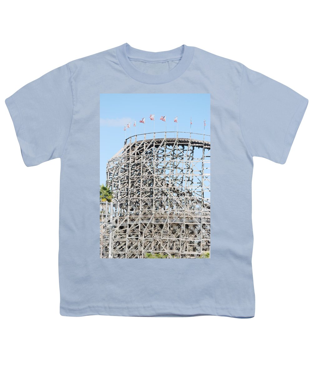 Pop Art Youth T-Shirt featuring the photograph Wooden Coaster by Rob Hans