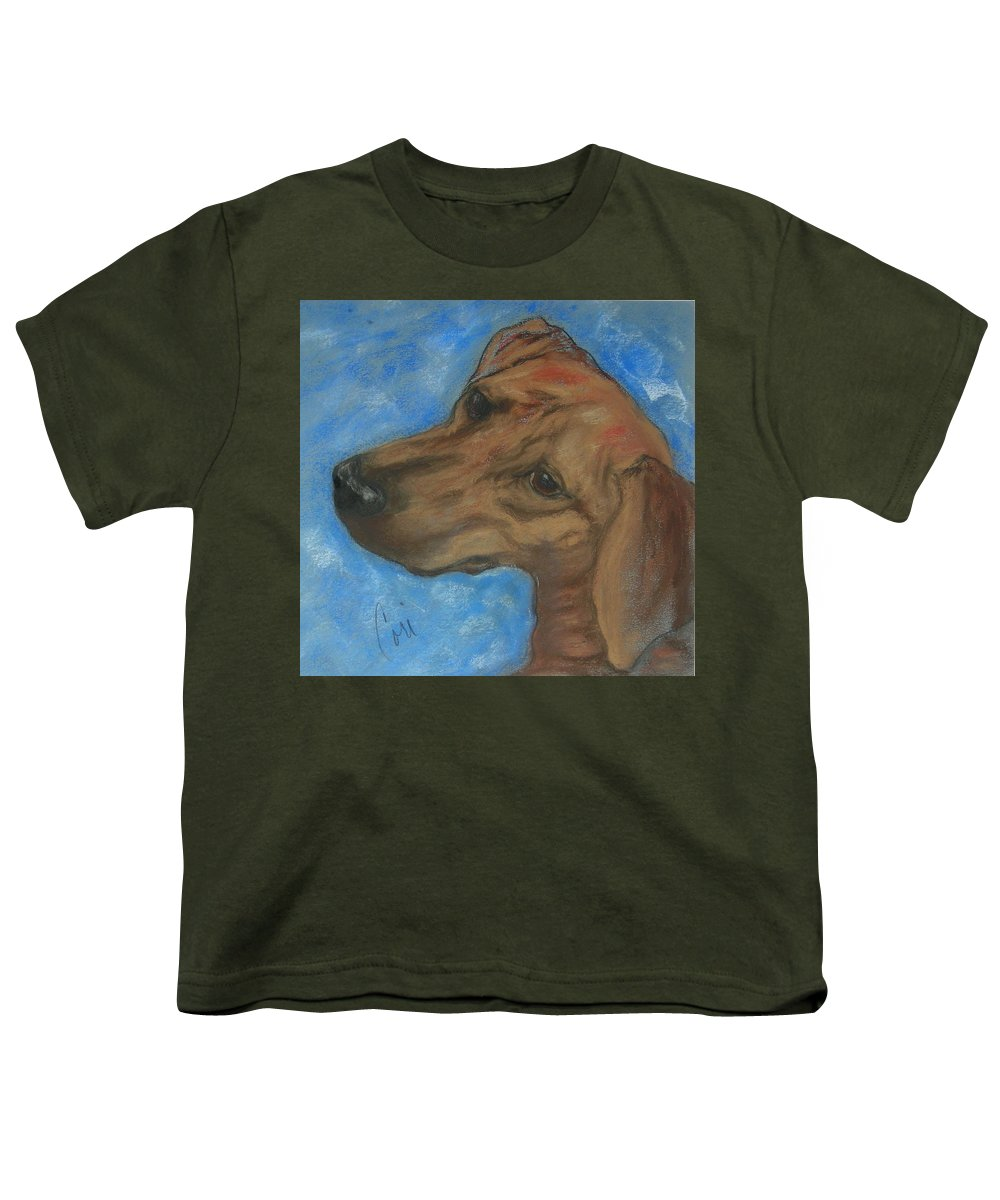 Pastel Youth T-Shirt featuring the drawing A Twist Of Might by Cori Solomon