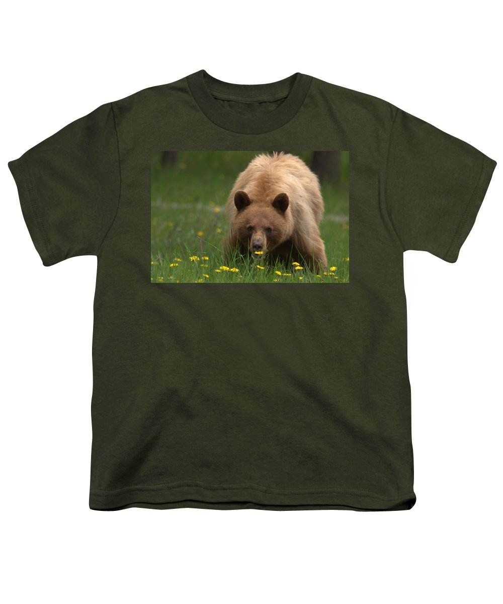 Bear Youth T-Shirt featuring the photograph Black Bear by Frank Madia