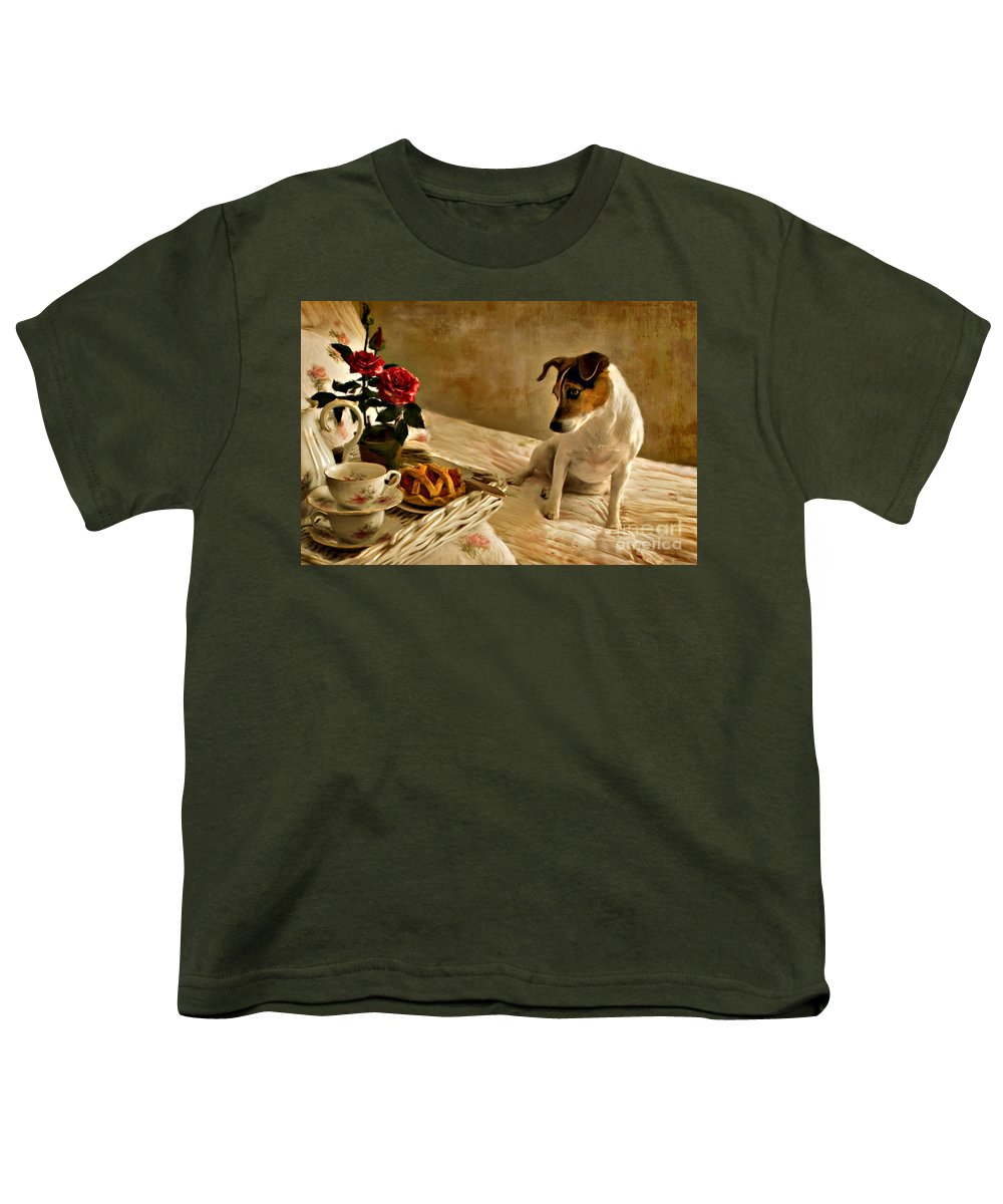 Youth T-Shirt featuring the photograph Bon Appetit by Jean Hildebrant