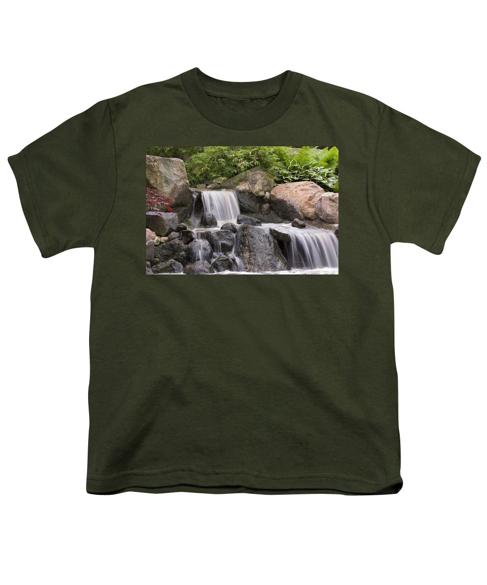 3scape Photos Youth T-Shirt featuring the photograph Cascade Waterfall by Adam Romanowicz