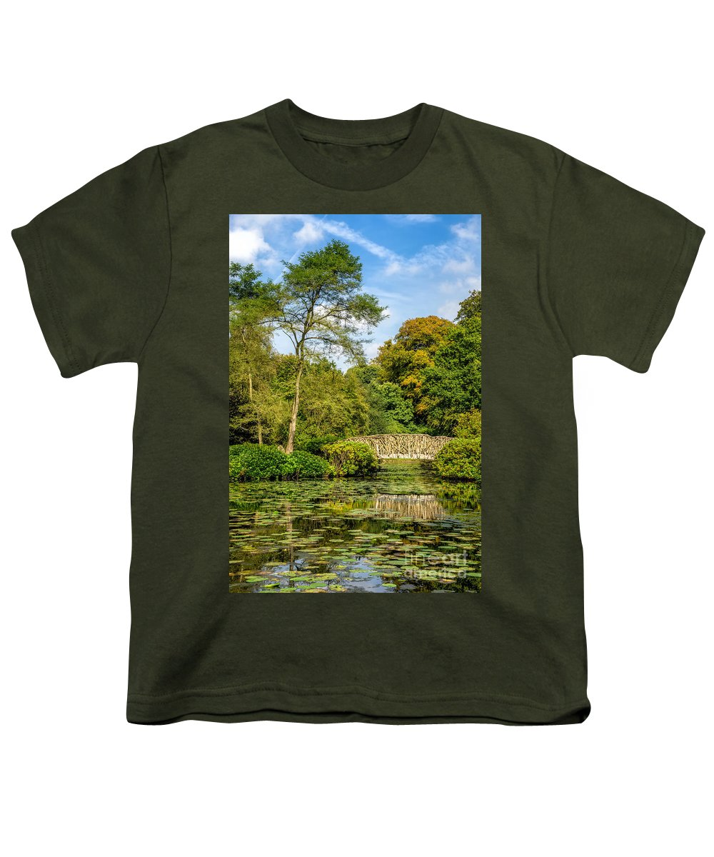 Reflections Youth T-Shirt featuring the photograph Foot Bridge Reflections by Adrian Evans