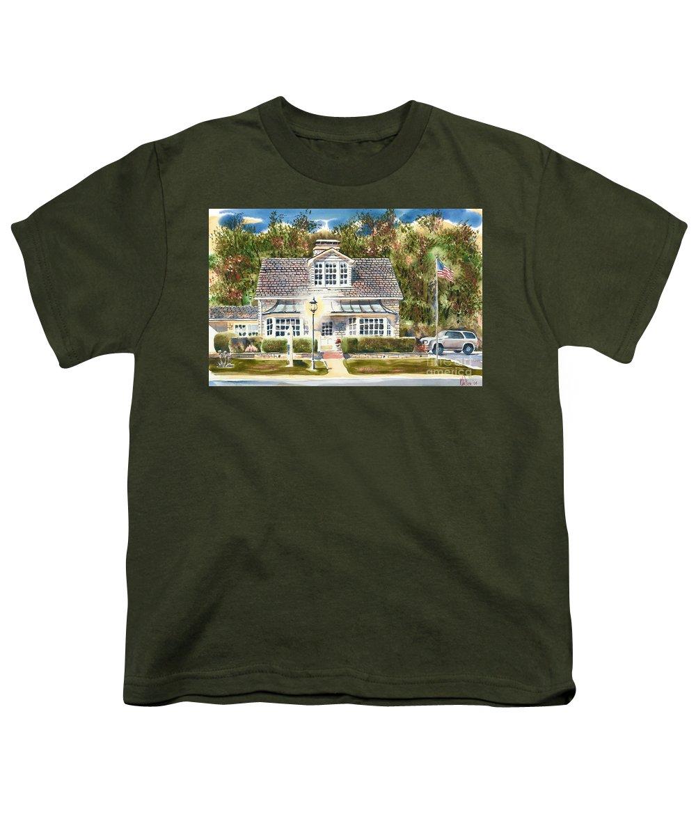 Greystone Inn Ii Youth T-Shirt featuring the painting Greystone Inn II by Kip DeVore
